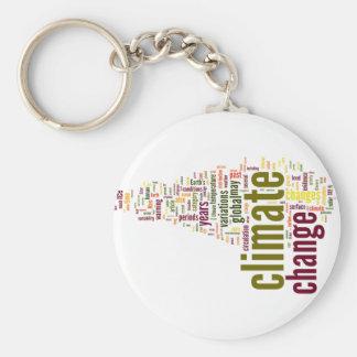 climate change three keychain