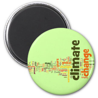 climate change two 2 inch round magnet