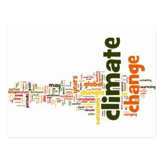 climate change two postcard
