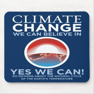 Climate Change - Yes We Can Obama Parody Mousepad