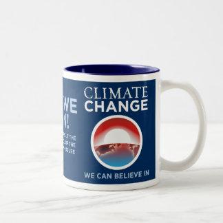 Climate Change - Yes We Can Obama Parody Mug