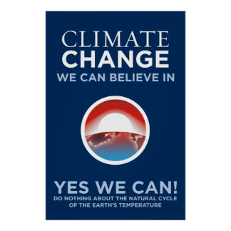 Climate Change - Yes We Can Obama Parody Poster