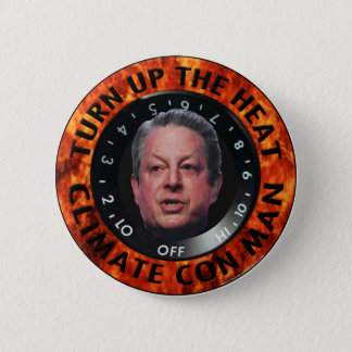 Climate Con Man Button
