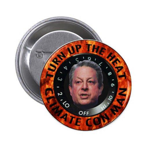 Climate Con Man Pinback Button