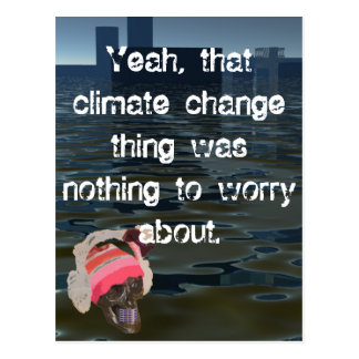 Climate CricketDiane Air Pollution Sea Level Rise Postcard