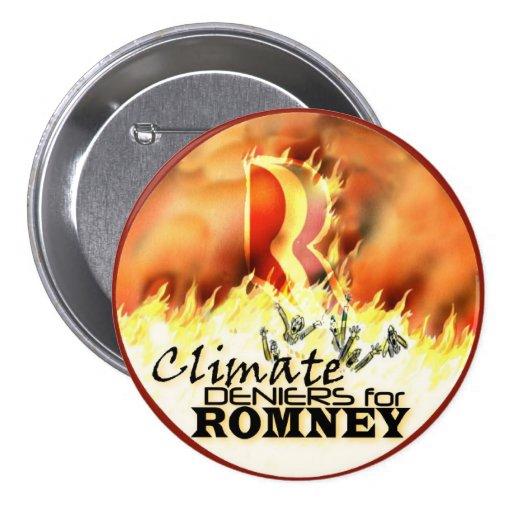 Climate Deniers for Romney Button