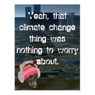 Climate Environment Air Pollution Sea Level Rise Postcard