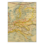 Climate of Europe Map Greeting Card