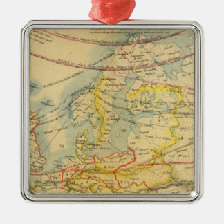 Climate of Europe Map Metal Ornament