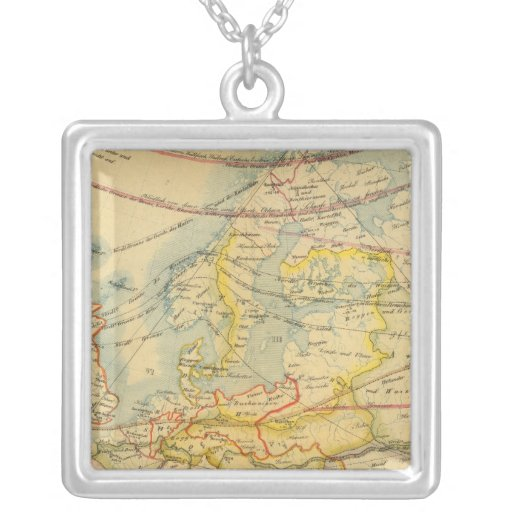 Climate of Europe Map Necklaces