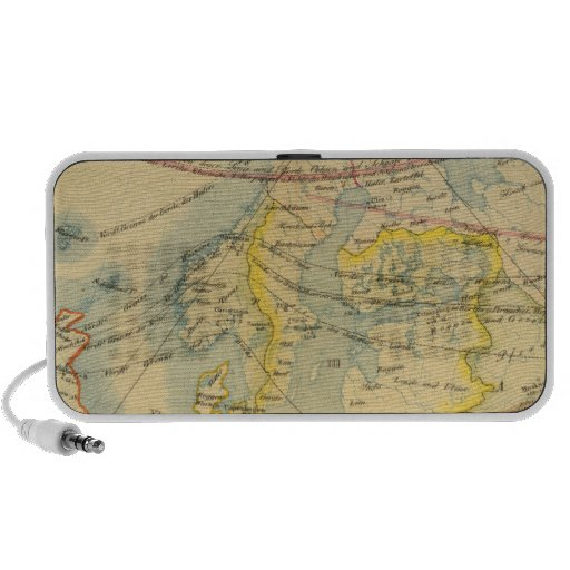 Climate of Europe Map Portable Speakers