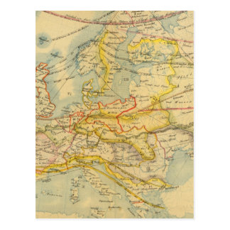 Climate of Europe Map Postcard