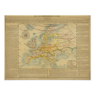 Climate of Europe Map Poster