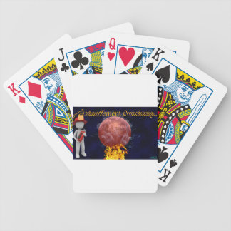 Climate warming bicycle playing cards