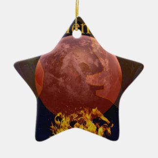climate warming ceramic ornament
