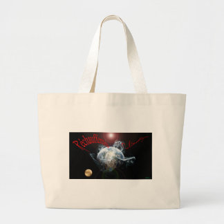Climate warming large tote bag