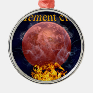 Climate warming metal ornament