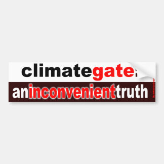 climategate: an inconvenient truth bumper sticker
