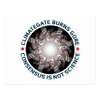 Climategate Burns Gore Postcard