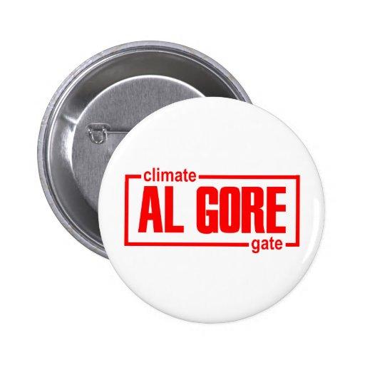 ClimateGate, mentira, cambio de clima, calentamien Pin Redondo 5 Cm
