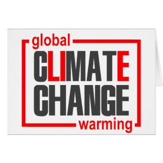 ClimateGate, mentira, cambio de clima, calentamien Tarjeta De Felicitación