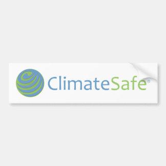 ClimateSafe Logo Bumper Sticker (White)