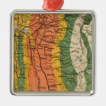 Climatic map of California Christmas Ornaments
