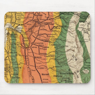 Climatic map of California Mousepads