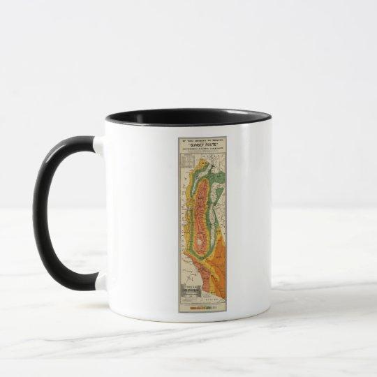 Climatic map of California Mug