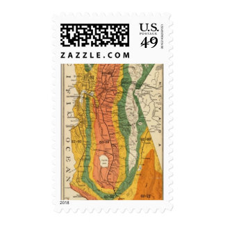 Climatic map of California Postage Stamps