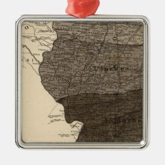 Climatological map, Illinois Metal Ornament