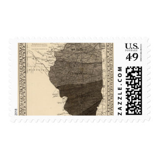 Climatological map, Illinois Postage