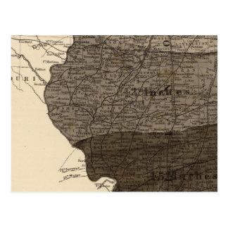 Climatological map, Illinois Postcard