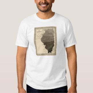 Climatological map, Illinois T Shirts