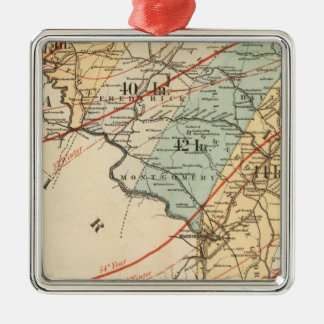 Climatological map of the State of Maryland Metal Ornament