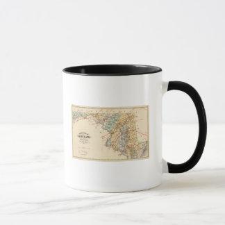 Climatological map of the State of Maryland Mug