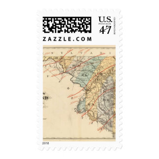 Climatological map of the State of Maryland Postage