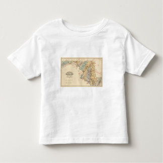 Climatological map of the State of Maryland Tee Shirts