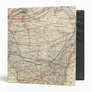 Climatological map of Wisconsin 3 Ring Binder