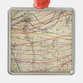 Climatological map of Wisconsin Metal Ornament