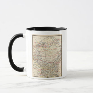 Climatological map of Wisconsin Mug
