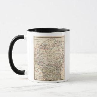 Climatological map of Wisconsin Mug