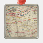 Climatological map of Wisconsin Christmas Tree Ornament