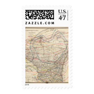 Climatological map of Wisconsin Postage