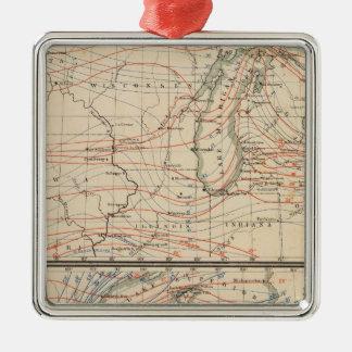 Climatology of Michigan Atlas Mao Metal Ornament