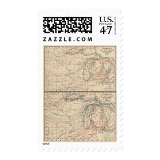 Climatology of Michigan Atlas Mao Postage