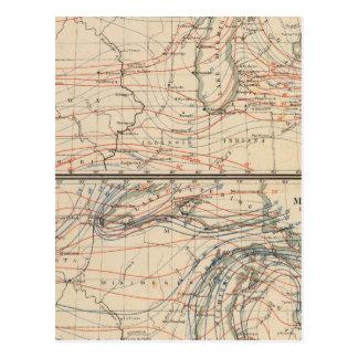 Climatology of Michigan Atlas Mao Postcard