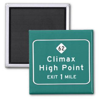 Clímax, marcador del camino, Carolina del Norte, l Iman Para Frigorífico
