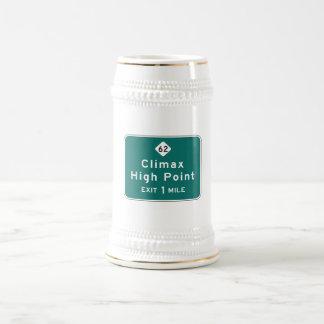 Climax, Road Marker, North Carolina, USA Beer Stein