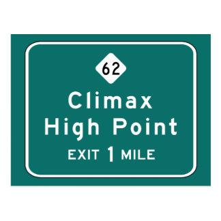 Climax, Road Marker, North Carolina, USA Postcard